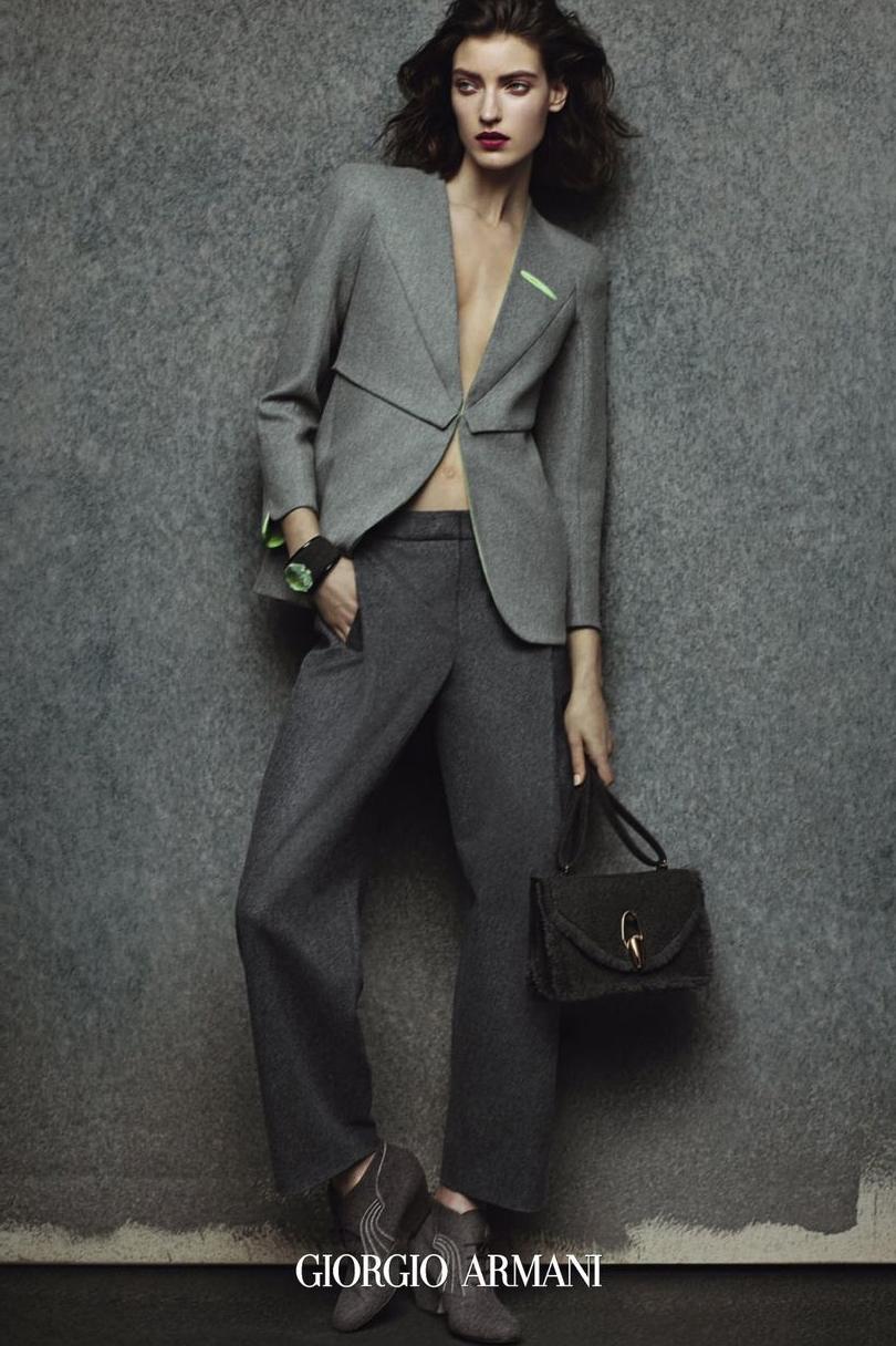 Giorgio Armani | Fall-Winter 2014-2015 | Model: Marikka Juhler | Photo: Sølve Sundsbø,
