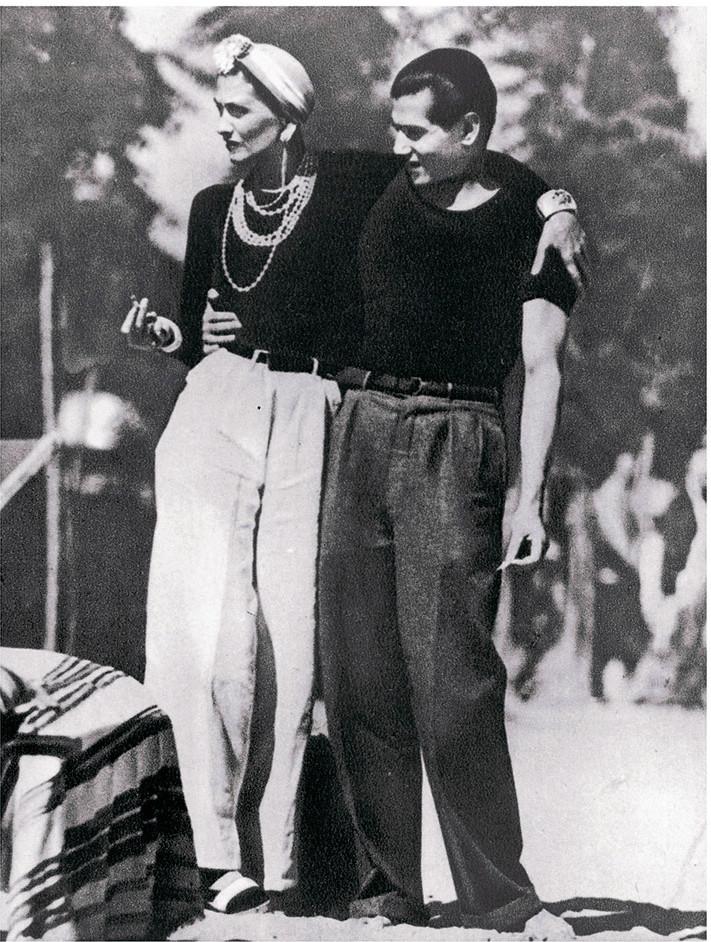 Gabrielle Chanel and Serge Lifar, 1937