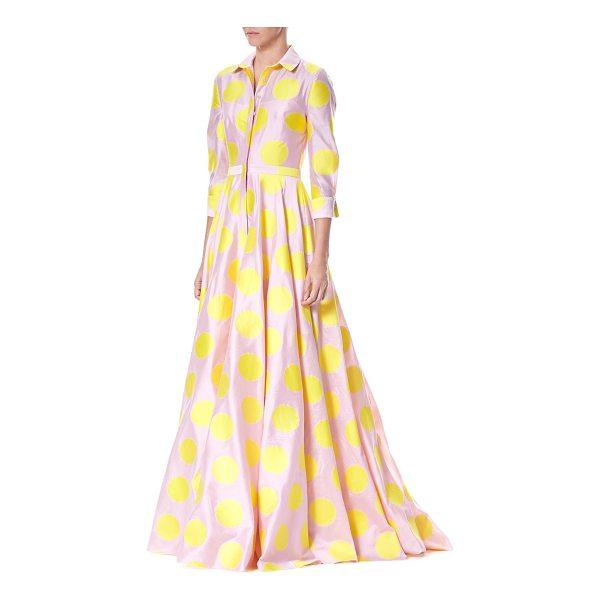 carolina-herrera-polka-dot-trench-gown
