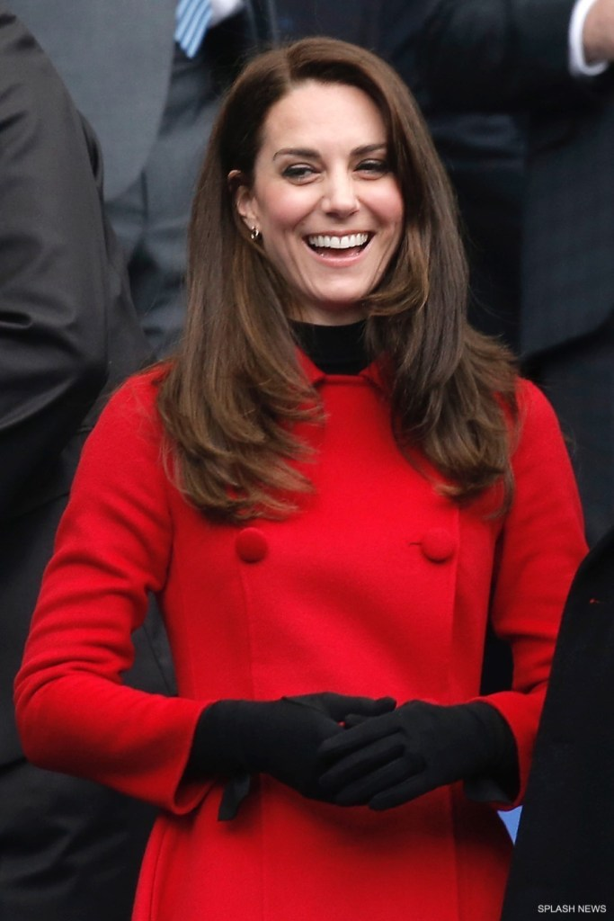 The Duchess of Cambridge; CH Carolina Herrera coat; PRESS ASSOCIATION