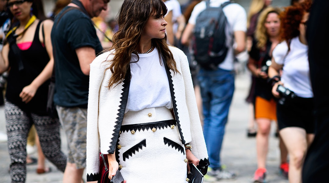 Miroslava Duma. Chanel. Paris, France. Paris Haute Couture Fashion Week, Fall/Winter 2015/2016; Photo: Adam Katz Sinding
