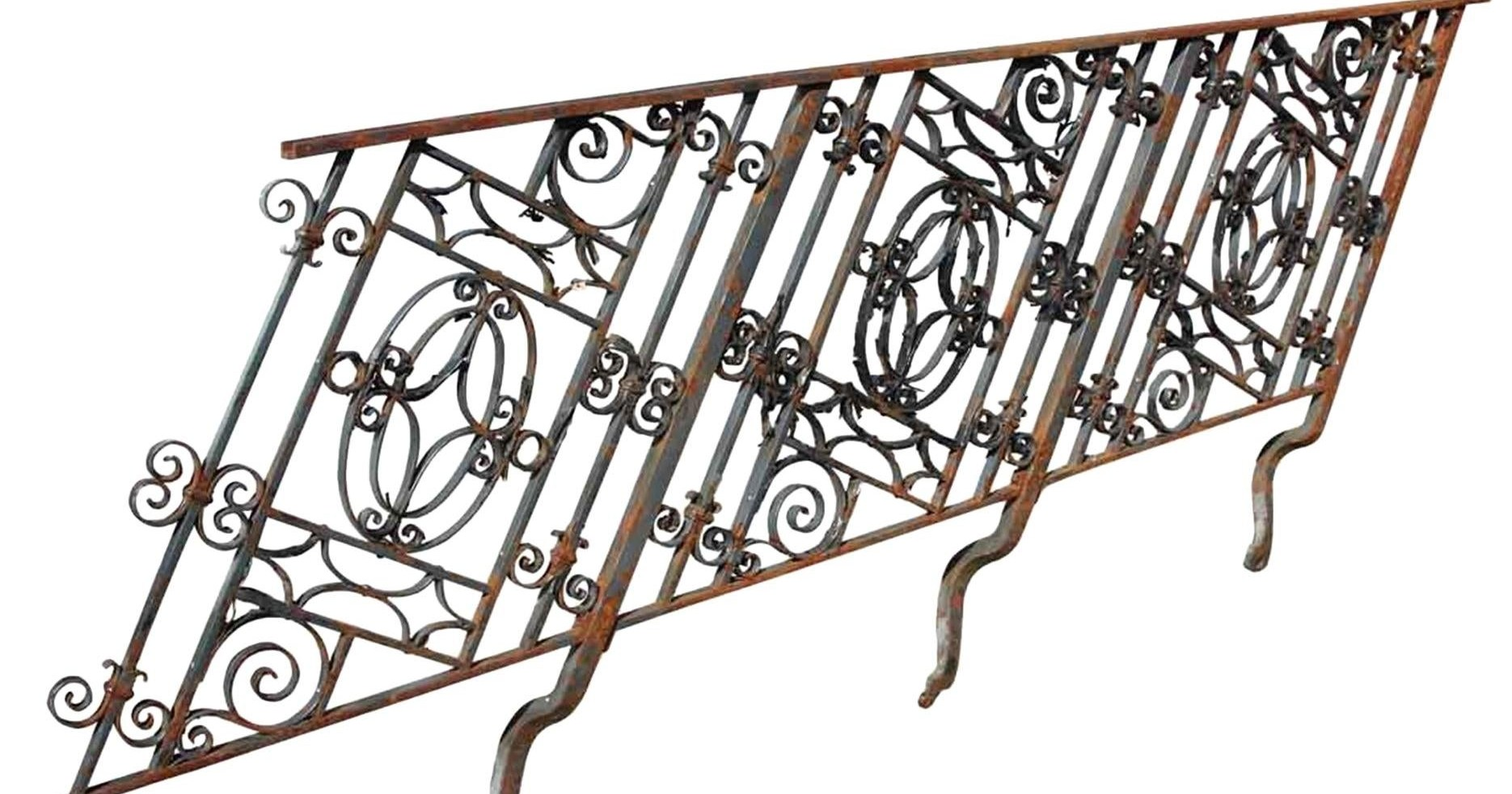 1910 Georgian Wrought Iron Stair Railing For Sale At 1Stdibs | Stair Banisters For Sale