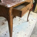 1920s French Walnut And Marble Vanity For Sale At 1stdibs