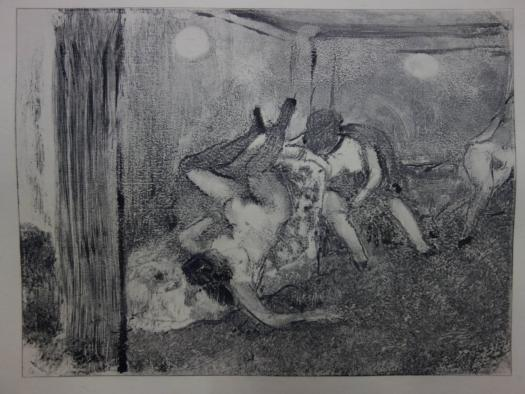 Degas Whorehouse scene 'The drunk prostitutes'