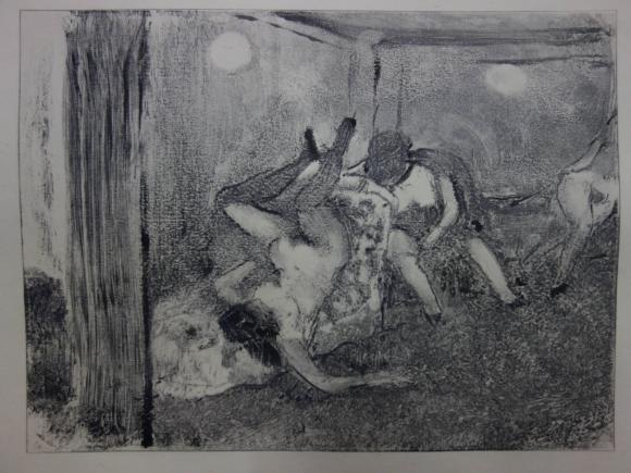 Degas Whorehouse scene 'The drunk prostitutes'