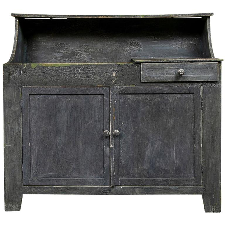 antique painted cottage cabinet with dry sink