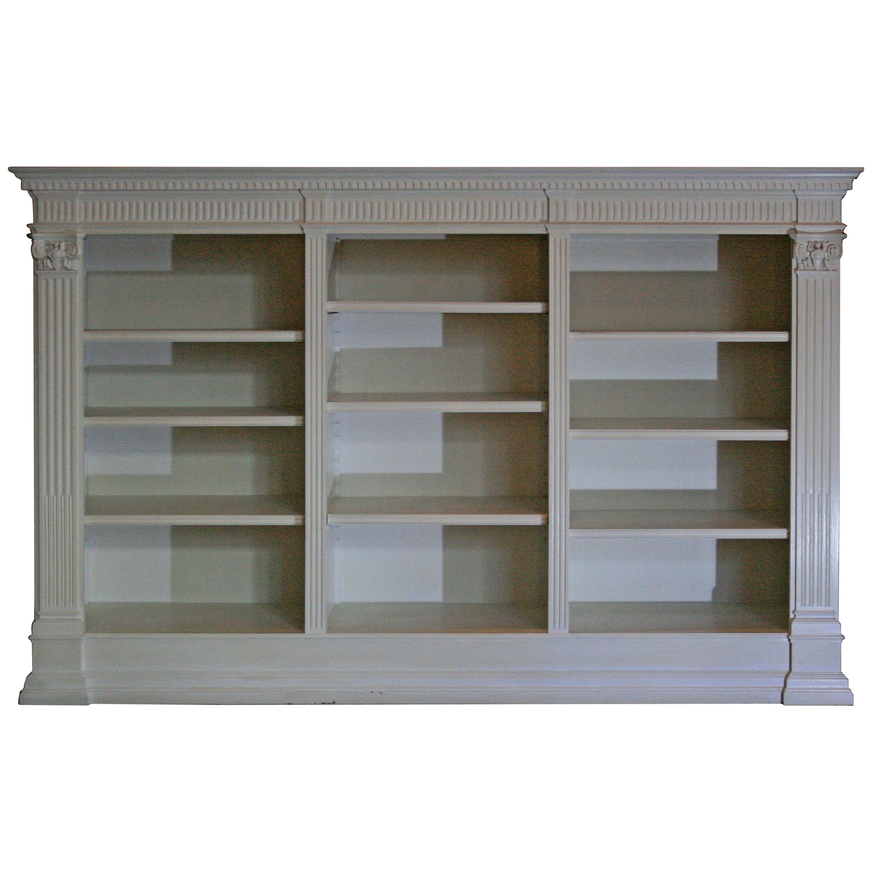 Antique White Bookshelf Historicism Oak At 1stdibs