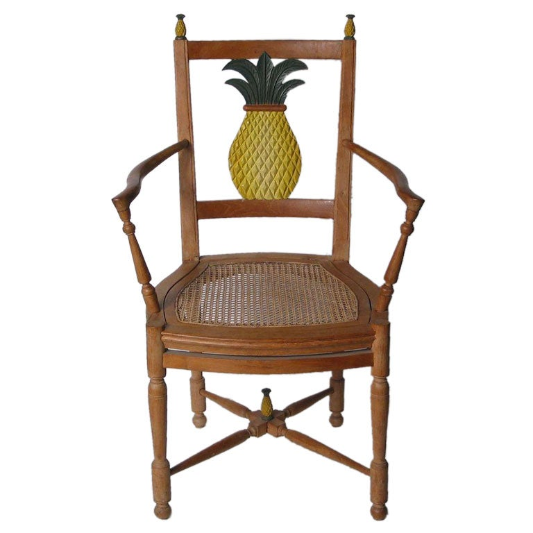 Reproduction Pineapple Chair From Provence Signed At 1stdibs