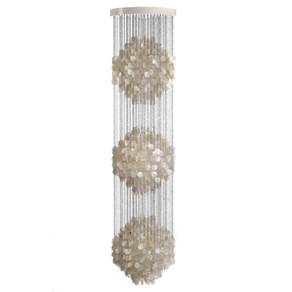 Triple Fun Shell Chandelier By Verner Panton For
