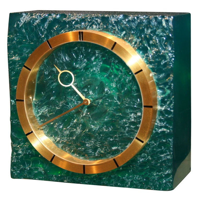 Beautiful Jaeger Lecoultre Eight Days Desk Clock 1960s For