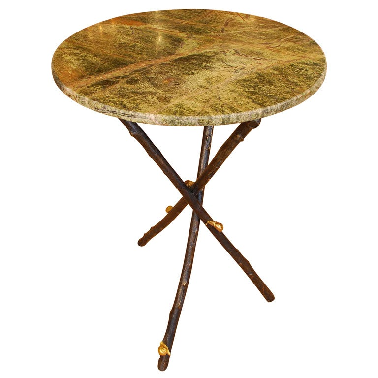 Small Table with Snails and Marble Top