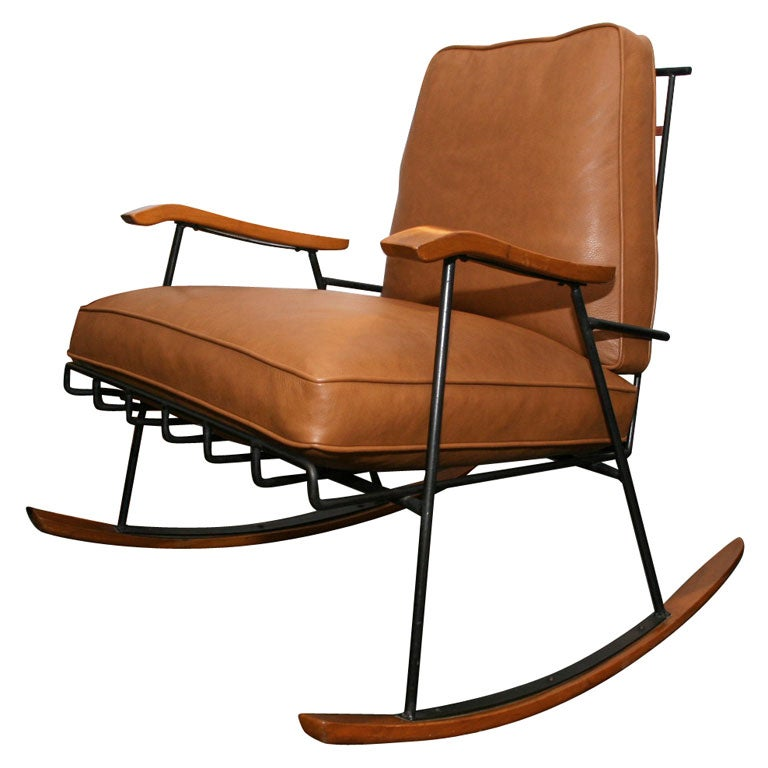 Leather Rocking Chair By Paul McCobb At 1stdibs