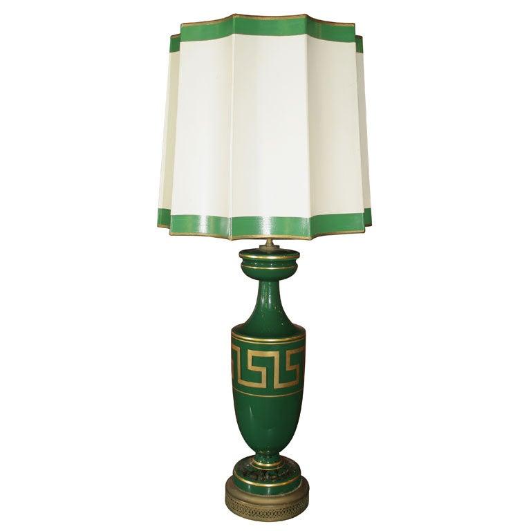 Greek Key Lamp And Shade At 1stdibs