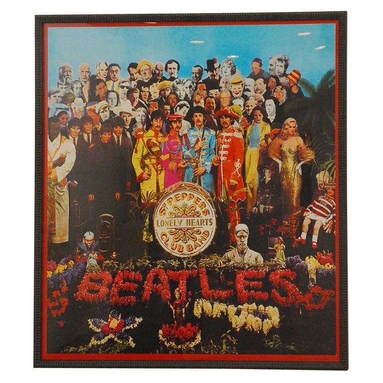 Peter Blake Signed Sergeant Pepper Beatles Poster At 1stdibs