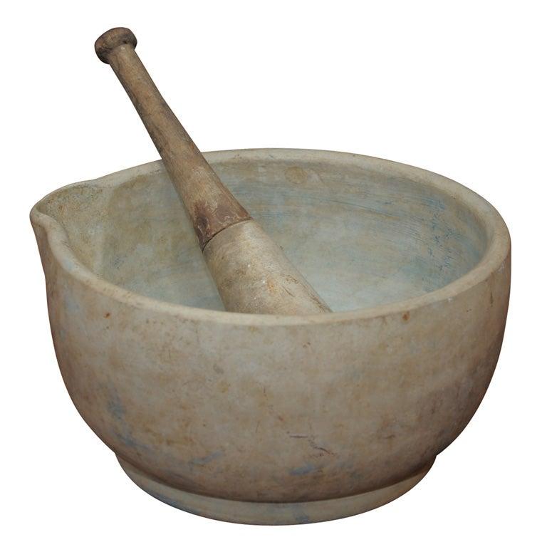 Ceramic Mortar And Pestle At 1stdibs