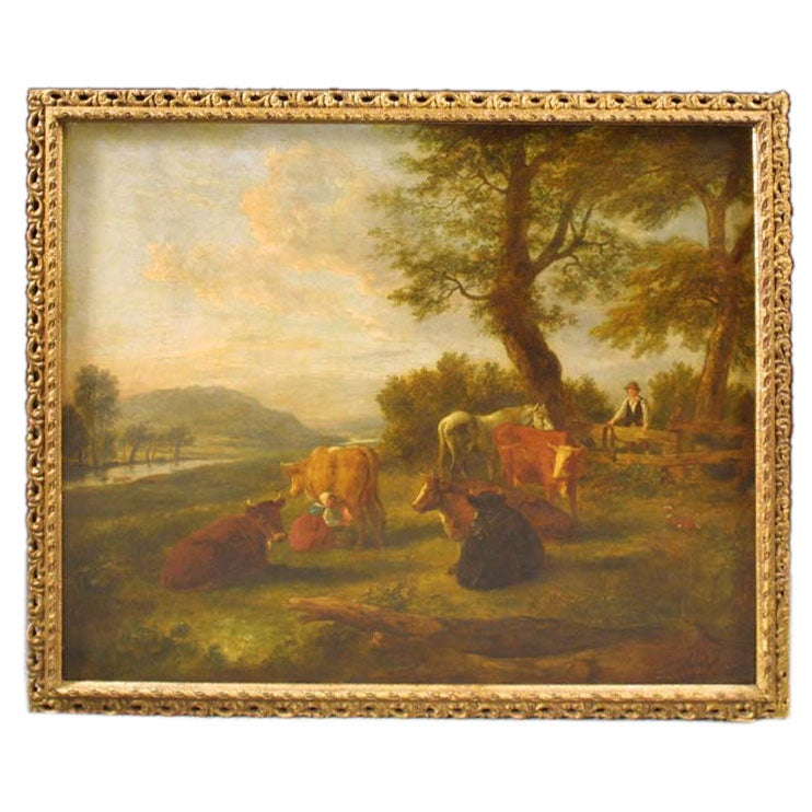English School Landscape Oil Painting Late 18th C At 1stdibs