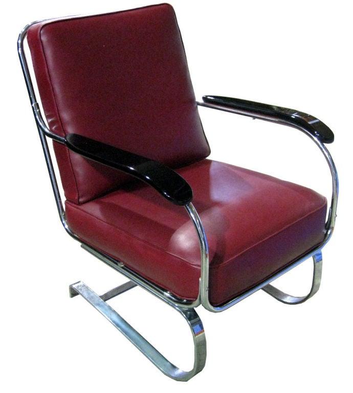 Pair KEM Weber American Art Deco Springer Armchairs At 1stdibs