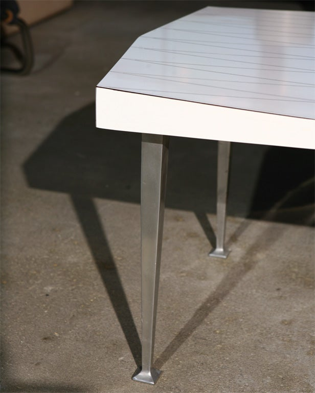 Ralph Giarreto For Hudson Rissman Laminate Top Side Table For Sale At 1stdibs