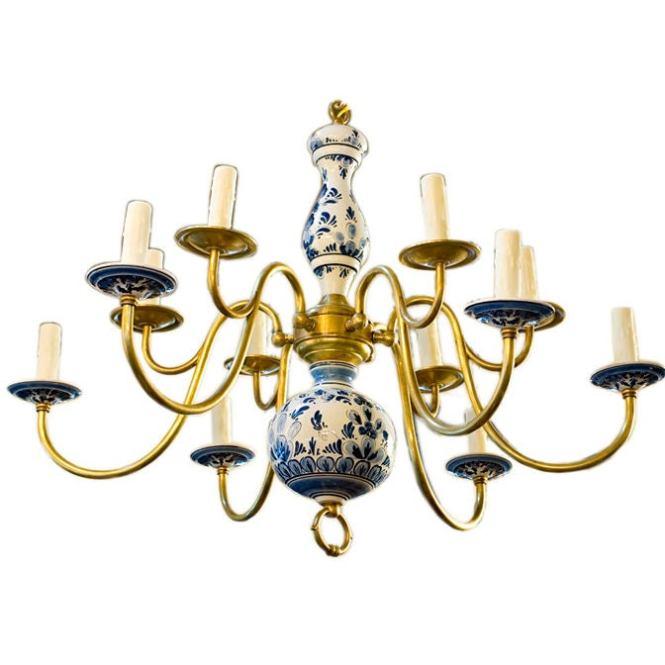 Vintage Delft Chandelier 1
