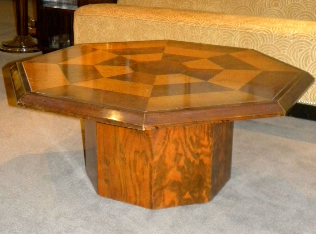 Original Two Tone Octagon Coffee Table For Sale At 1stdibs