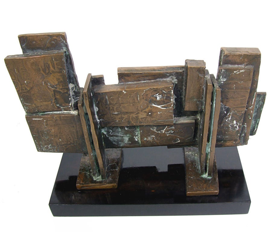Modernist Bronze Sculpture By Ira Grayboff At 1stdibs