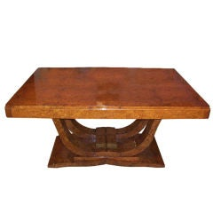 French Art Deco Dining Table Or Writing Desk In Macassar