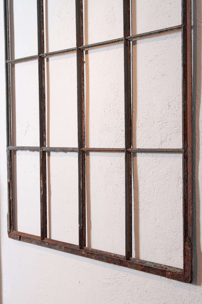 Iron Warehouse Fentre Frame As Wall Decor At 1stdibs