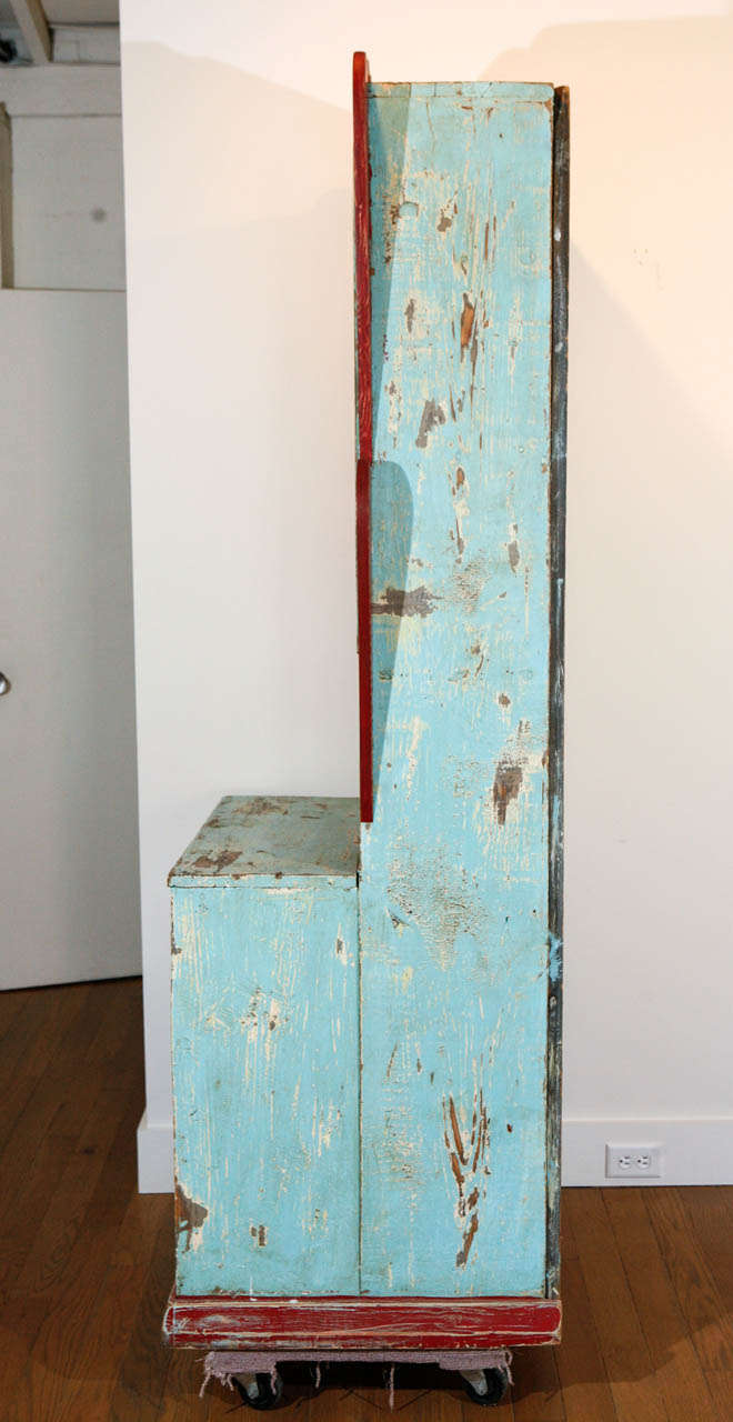 Painted New Mexican Trastero CupboardCabinet Circa