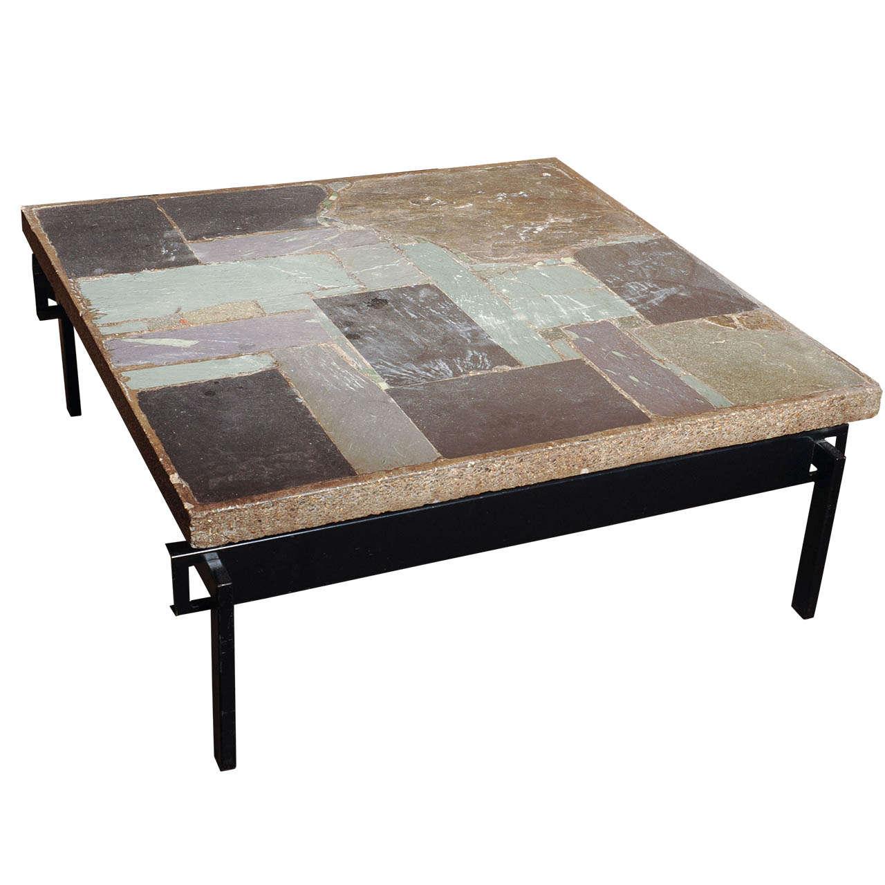 wonderful slate stone coffee table by paul kingma
