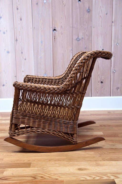 Antique Platform Chair Rocking Rocker