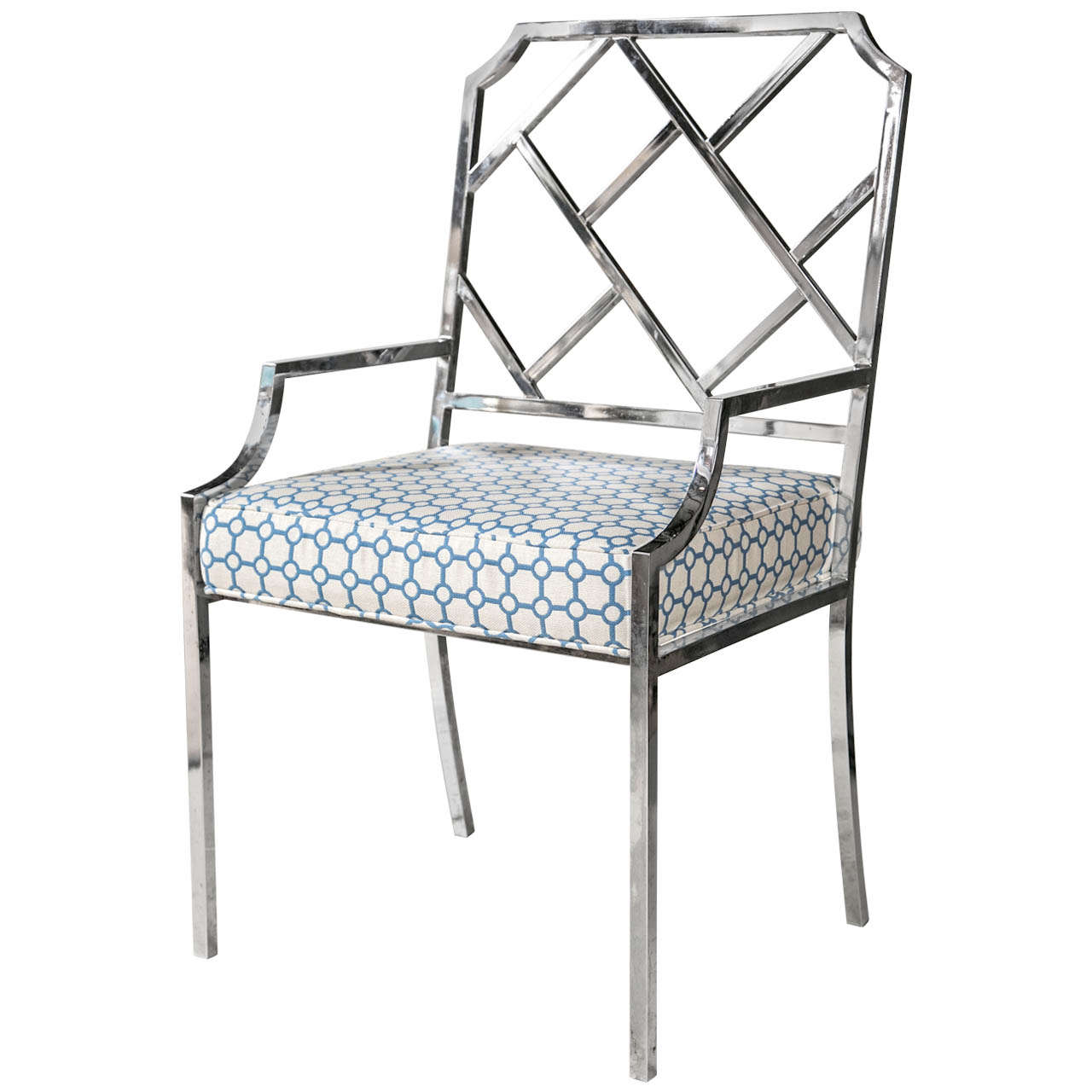 S Chrome Chippendale Chair By Milo Baughman At 1stdibs