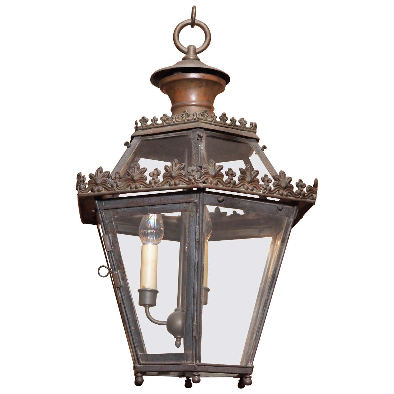 Antique French Iron Lantern At 1stdibs