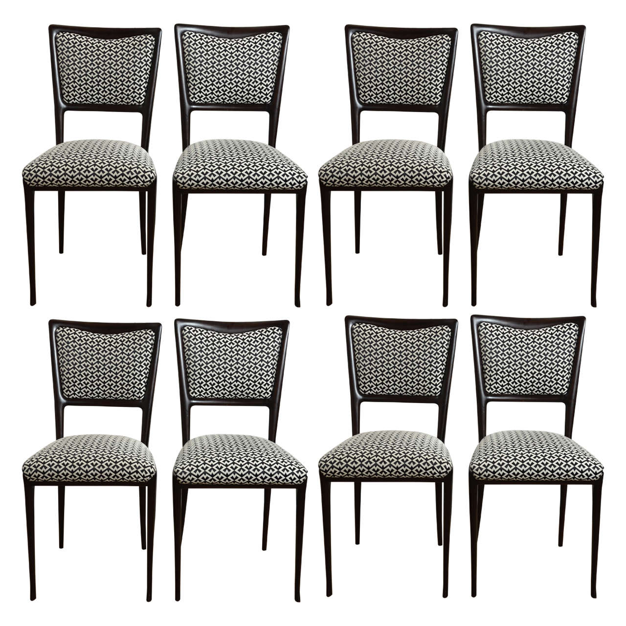 Mid Century Italian Vittorio Dassi Dining Chairs Set Of