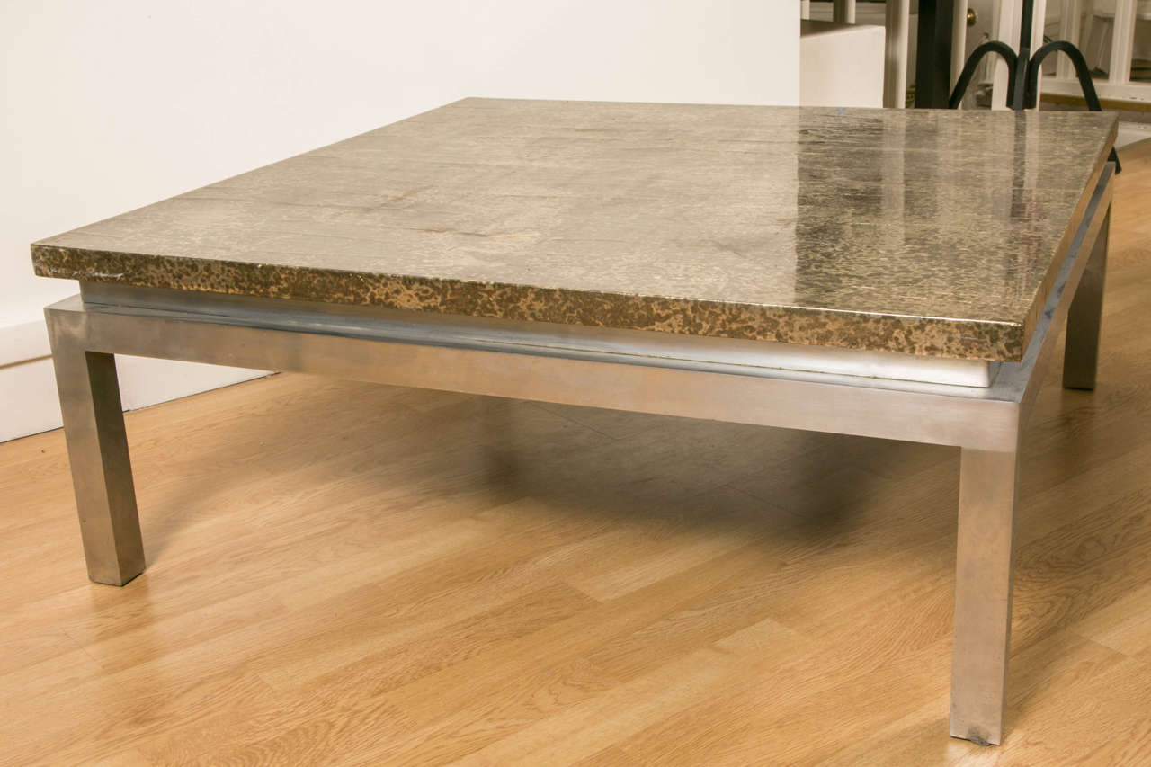 1970s Large Square Coffee Table For Sale At 1stdibs