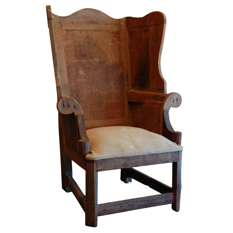 Early American Make Do Wingback 19th C At 1stdibs