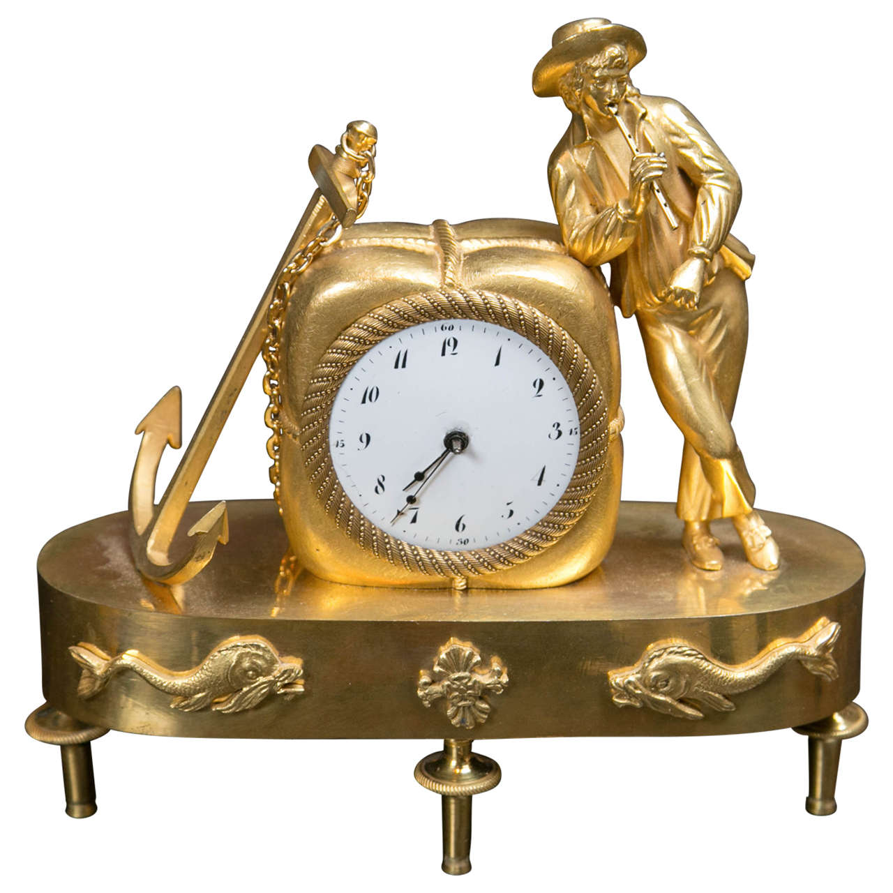 Sailing Themed Clock By William Gibb At 1stdibs