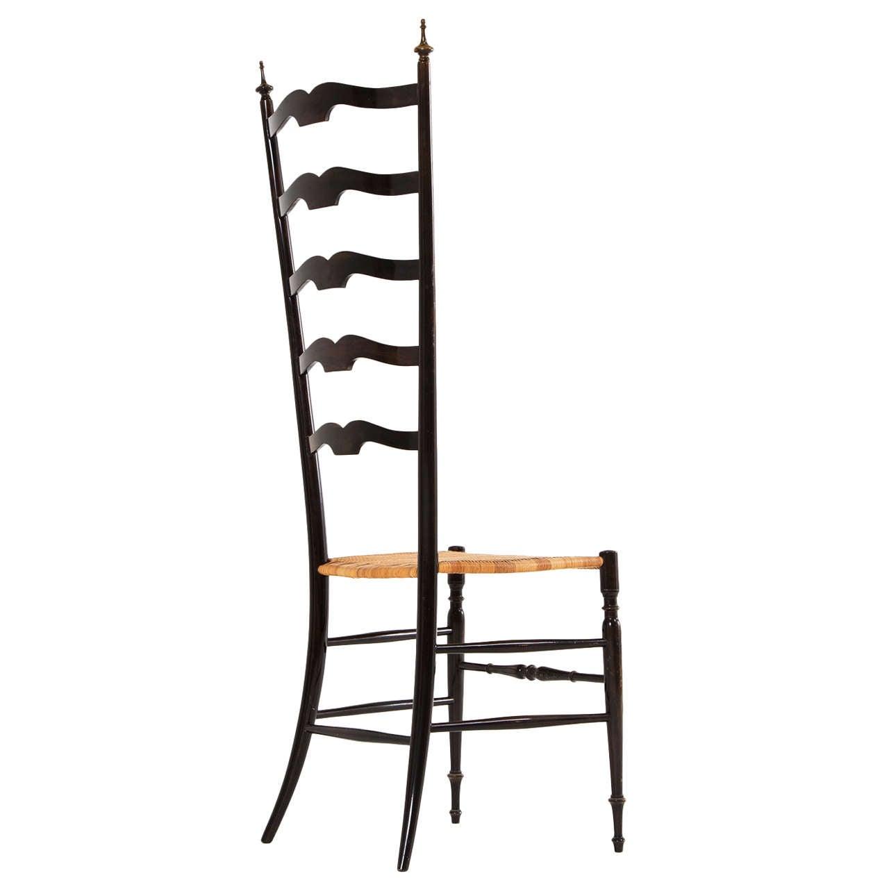 Italian High Back Chair By Chiavari At 1stdibs