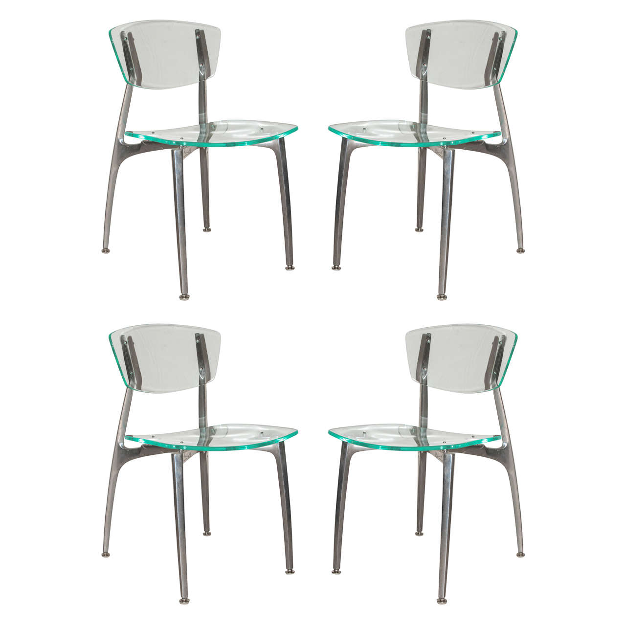 Lucite And Aluminum Chairs At 1stdibs