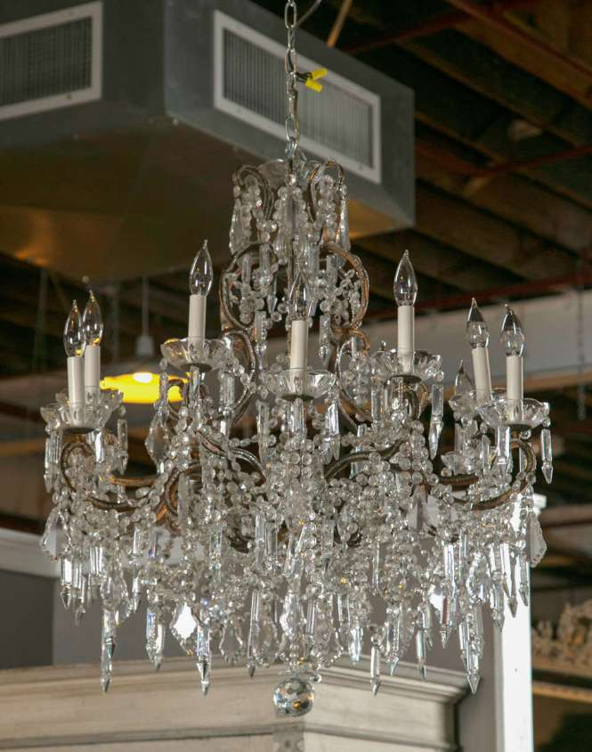 Vintage French Marie Therese Crystal Chandeliers 2