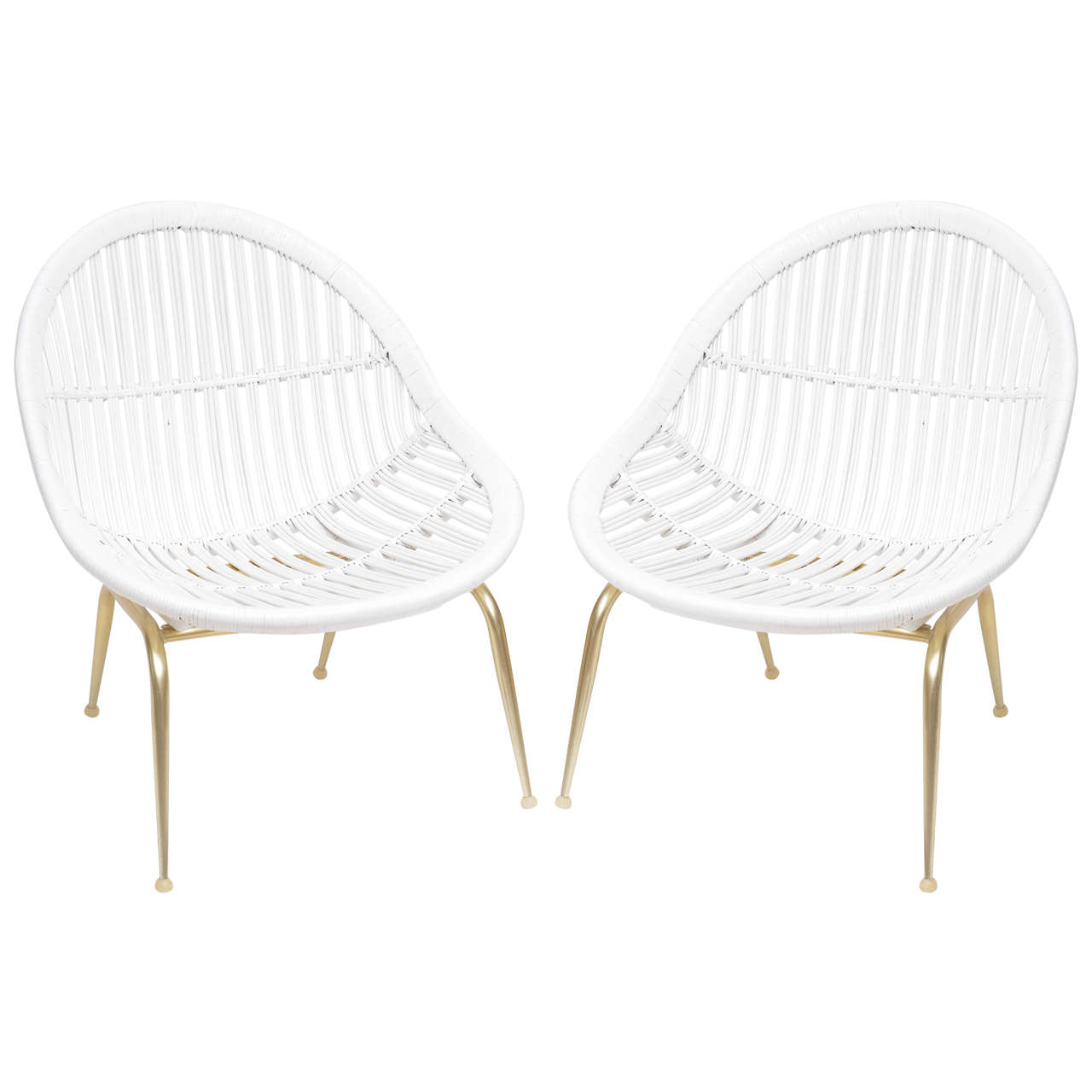Anodized Aluminum And Bamboo Lounge Chairs For Sale At 1stdibs