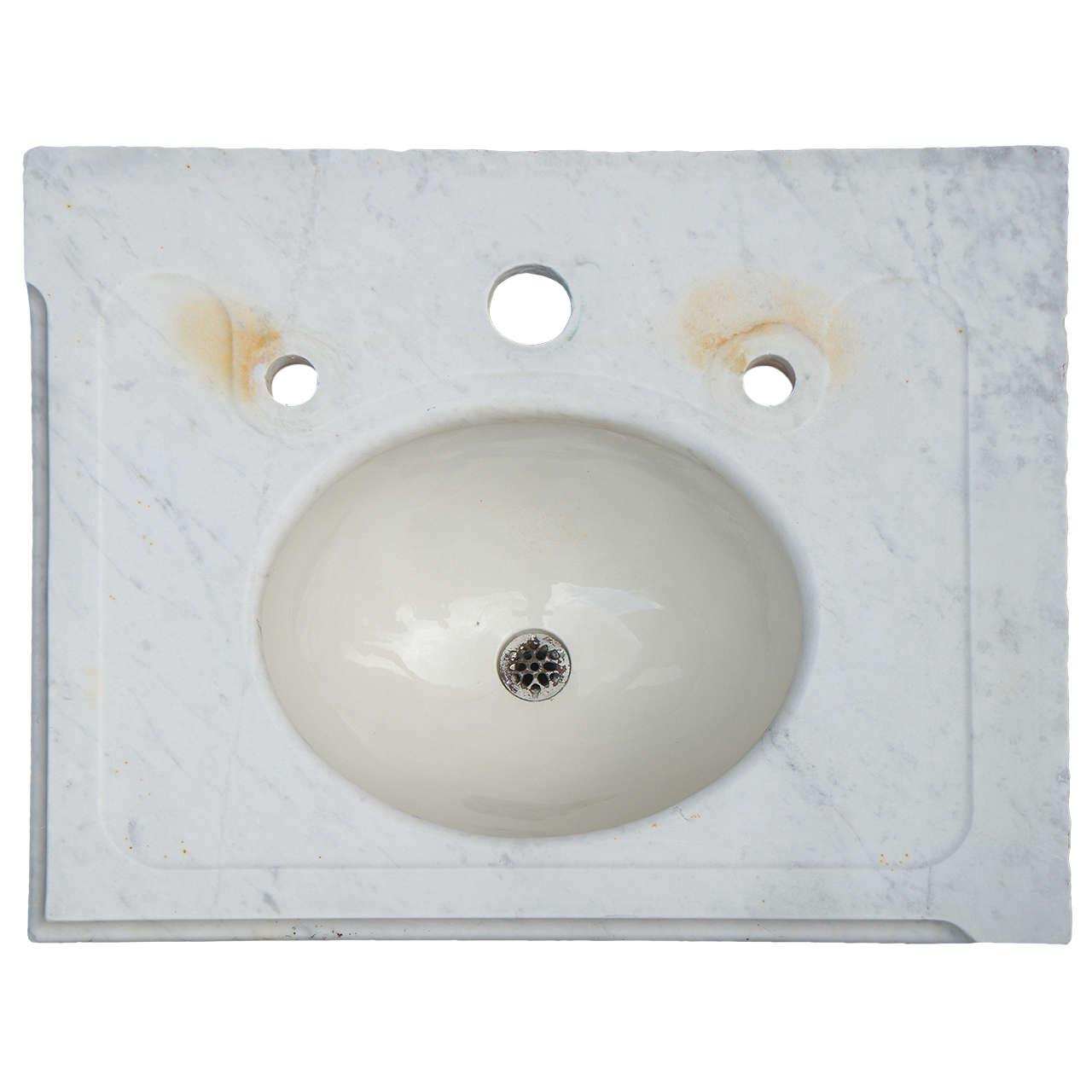 vintage marble vanity sink top
