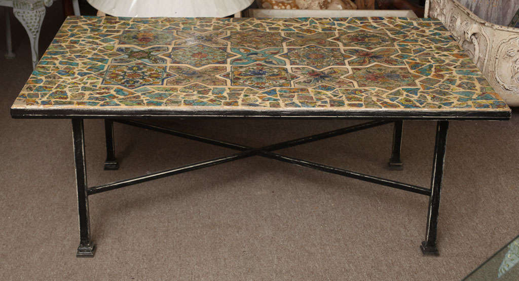 Palm Beach Persian Tile Coffee Table At 1stdibs