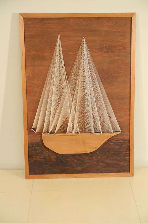 Nautical Themed String Art And Wood Wall Sculpture At 1stdibs