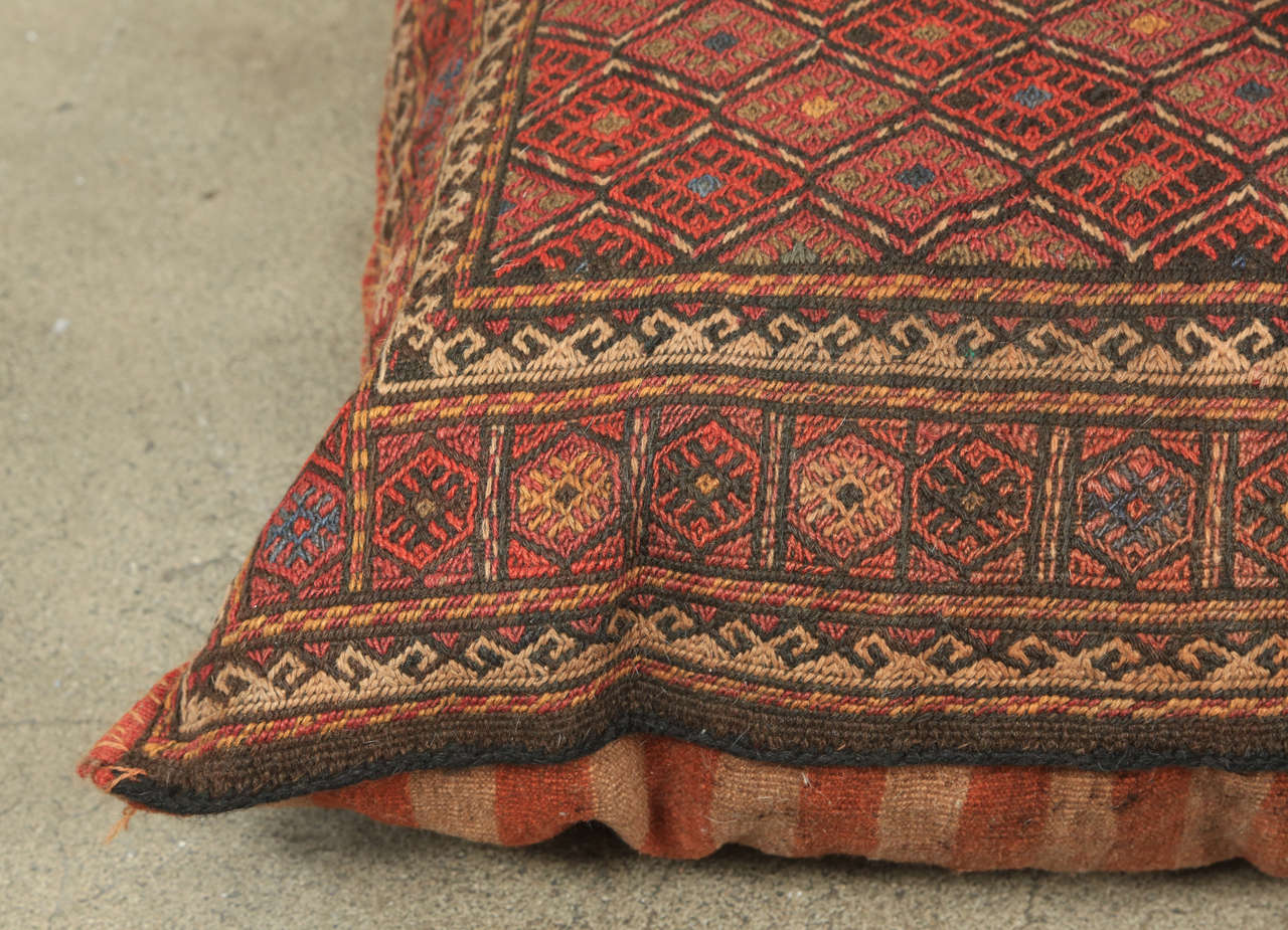 middle eastern turkish tribal kilim floor pillow