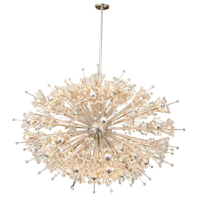 Monumental Crystal Esprit Sputnik Chandelier For