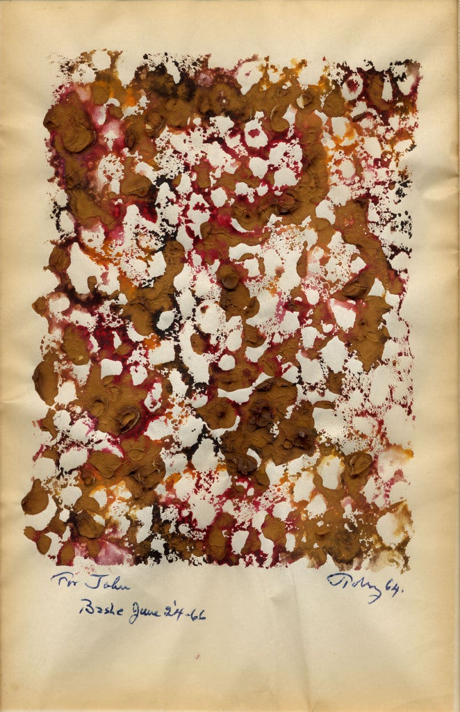 Mark Tobey Untitled Monotype Mixed Media At 1stdibs