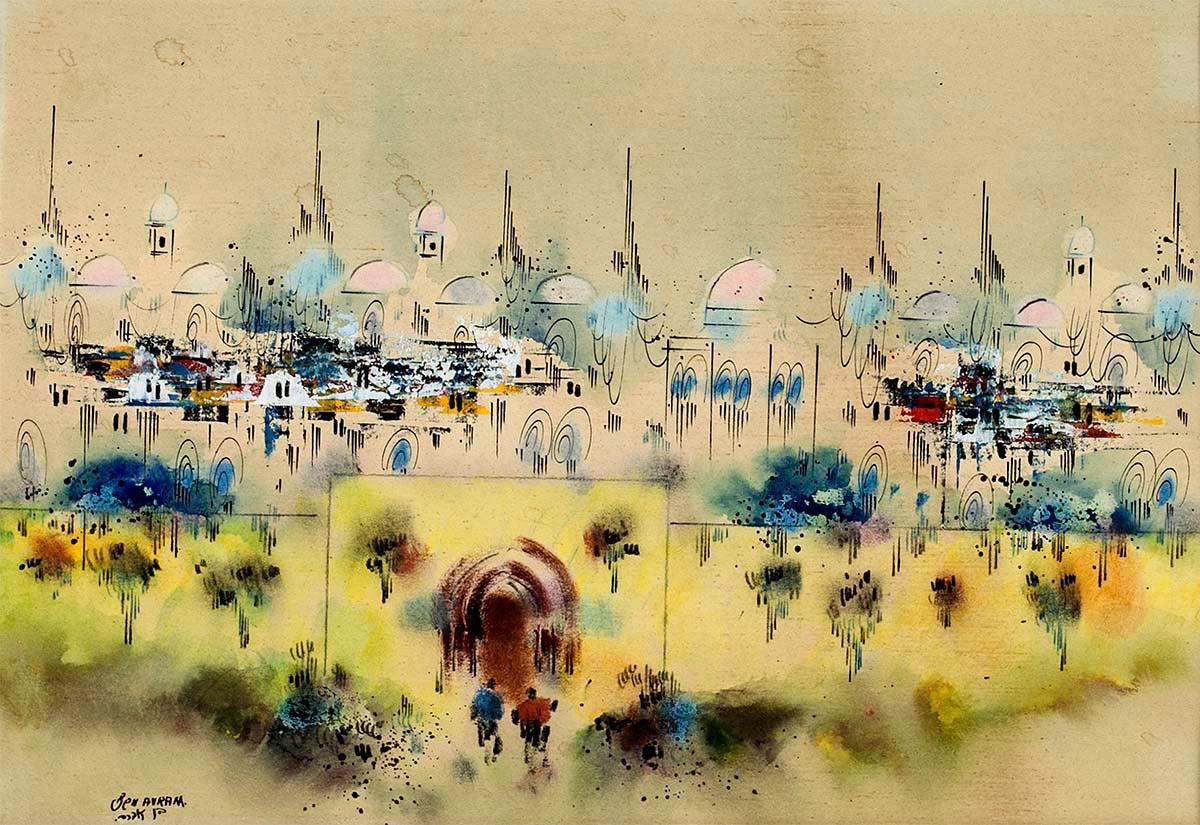 Edward Ben Avram Jerusalem Old City View At 1stdibs
