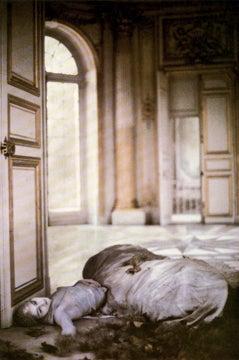 Deborah Turbeville Autumn Leaves Inside The Pavillion