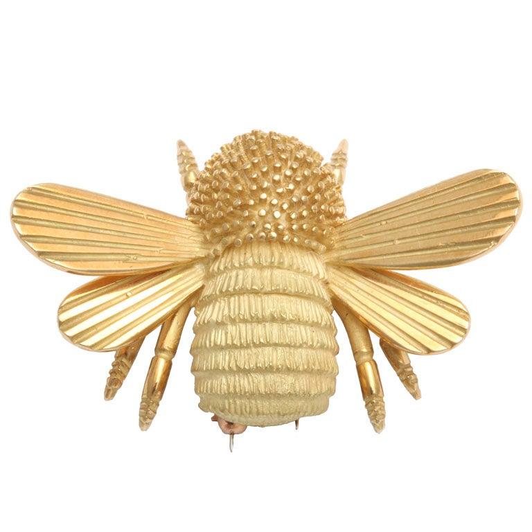 Gold Bumble Bee Brooch At 1stdibs