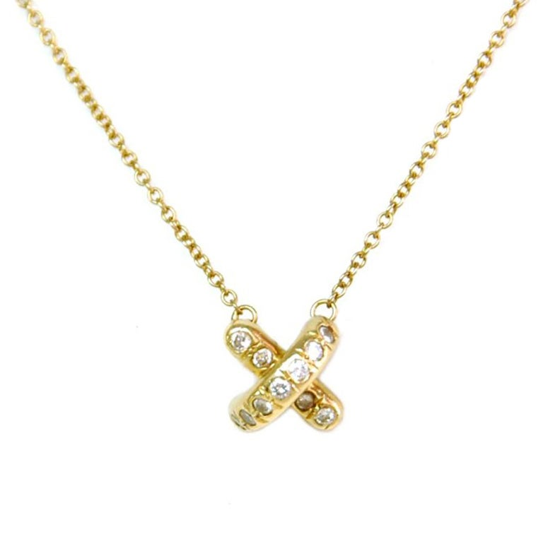 Tiffany And Co By Paloma Picasso X Pendant With Diamonds